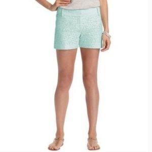 LOFT mint lace shorts